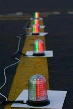 Line of threshold lights